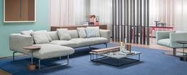 """The market success of the """"8"""" sofa, introduced in 2014, prompted Cassina to expand the range with the """"8 Cube"""". A collection of padded elements, which traces the figure 8, but which also offers a version with an even softer seat and simpler, more conta..."""