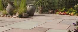 Blended Natural Sandstone Paving Slabs image