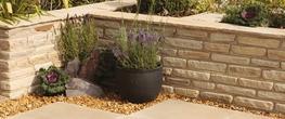 Natural Sandstone Garden Walling image