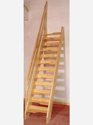 The Original Loftmaster staircase, designed by ourselves to meet full building regulations for alternate tread staircases. Each staircase is made to the customers exact floor to floor height and is supplied ready to assemble as a flat pack kit....