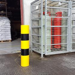 Features:  Durable Plastic sleeves to protect steel bollards from Weathering & Erosion Improve Visibility No Maintenace, No Re-painting and No Rust Easy to Fit – Just slide over existing steel Bollards Cost Effective Can be cut to fit shorter lengths Specifi...