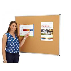 Aluminium Frame Cork Covered Noticeboard image