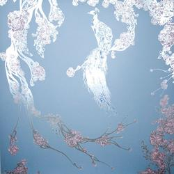 Opium Collection Silver Metallic Pale Blue, Pink and Blue Spotting image
