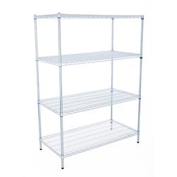 Starter bays consist of 4 posts, the necessary number of shelves and all other necessary fixings. Supplied on adjustable feet as standard. Castors available if required.  Livewire shelving is chrome-plated wire shelving available in a large range of sizes.  Th...