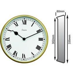 Brass Satin Clock image