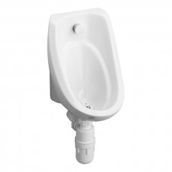 Wall urinal in vitreous china for concealed plumbing....