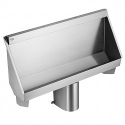 "This economically priced trough urinal in stainless steel is available in 4 standard sizes, 120cm, 180cm, 240cm and 305cm and made to measure ""bespoke"" sizes up to those lenghts, all with centre outlets. Two or more urinals may be fitted together on the same w..."