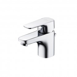 Tempo basin mixers feature soft geometric design which makes them the perfect match for either softer round or harder square basins and suites. They are part of a full range of single lever and dual control fittings. Factory fitted with a 5 lpm Eco flow regula...