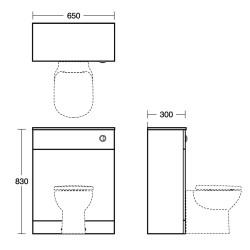 Tempo 650mm WC Unit - Ideal Standard