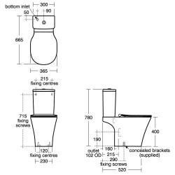 Concept Air Close Coupled WC Suite - Ideal Standard