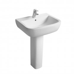 Soft Square washbasin available in three sizes, 60 x 50cm, 55 x 45cm and 50 x 44cm. Designed for use with full and semi pedestals. Tempo is a new contemporary range designed by Robin Levien.Domestic, hotel and commercial useFull or semi-pedestalPart of the...