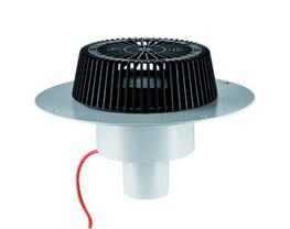 conforming to DIN EN 1253 for use with a calculated siphonic roof drainage system, moulded in PVC, PVC membranes can be welded to the flange  specification: - SuperDrain-insert - insulated drain body - outlet vertical - domed grate, secured  material: PVC  H =...