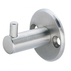 KWS Coat Hook.  Made of  Stainless Steel.  K7501 - 40mm diameter rose, 38mm projection - Face fix K7502 - 50mm diameter rose, 63mm projection - Concealed fix M8x70mm...