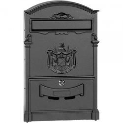 Black Letter Box - Cast Aluminium Front H 470 x W 290mm image
