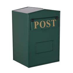 Industrial Mail Box - Green Rear Opening H.420 x W.280 x D.230mm image