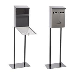 Free Standing Cigarette Bin Galvanised And Powder Coated Steel Plate image