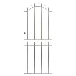 Wrought Iron Garden Gate - Vicenza Galvanised 1930mm x 750mm image
