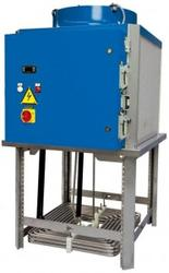Chillers for Oils and Emulsion Fluids  Range of 14 units with duties from 3.6kW up to 84kW (smaller duties available – see TRK range) Chillers for emulsion fluids (max 5% oil in fluid) Chillers for oils (max viscosity ISO VG 32) Compact size (only 1m2 with d...