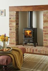 "Ideal for smaller rooms, the Stovax Brunel 1A is the smallest wood burning and multi-fuel stove in the Stovax cast iron range and is designed to fit into a standard 22"" high British fireplace. Nonetheless, this wood burning stove still features Airwash to he..."