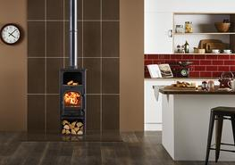 The Stovax Stockton 6 Highline is available as a dedicated wood burning stove or multi-fuel stove with external riddling. This stove is similar to the standard Stockton 6 stove, but has the addition of a warming shelf and wood store and with larger base plate....