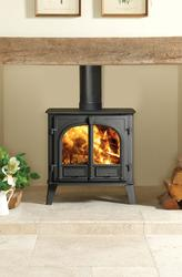 """Stovax's Stockton 8 Slimline is 3"""" (75mm) shallower than the standard Stockton 8; this means that in many cases less building work will be required to install the stove as it could slot directly into your existing fireplace opening and, although smaller, w..."""