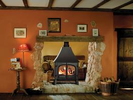 Enjoy twice the comfort and twice the view of your fire with Stovax's Stockton double sided wood burning and multi-fuelstoves. Using one central chimney, the doors to both the back and the front of the stove are designed to open into adjacent rooms. So, compared to individual stoves in each room, you have less work refuelling and even more of a focal point to your home.  There are two sizes of stove from which to choose – Stockton 8 Double and Stockton 11 Double. Although this double sided configuration does not allow the incorporation of full Cleanburn technology, both stoves still include an Airwash system to keep the glass clean and are able to burn both wood and multi-fuel. The smaller Stockton 8 Double will provide you with a significant heat output, up to 9kW, whilst the Stockton 11 Double produces an even more powerful 11kW. Otherwise, the two models have exactly the same specifications as their single sided equivalents.