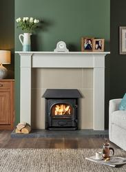"""The Stovax Stockton Milner Inset wood burning and multi-fuel stove has been specifically designed to fit into a 16""""- 18"""" wide and 20""""- 22"""" high fireplace without the Milner brick needing to be removed. This means that it can be easily secured and sealed into an existing chimney without the requirement for any building work, making it cheaper to install. More efficient than an open fire, the multi-fuel burning Stockton Milner stove gives you greater control of combustion, more heat for your money and therefore lower fuel costs. Features of the Stockton Milner include easy fitting, multi-fuel with external riddling, convection system, Cleanburn and Airwash."""