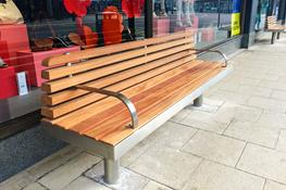 The straight Tree seat has been designed to withstand the heaviest town centre treatment. It features FSC® timber seat and backrest slats mounted onto a durable stainless steel frame. Its tubular legs can be supplied as above or below ground fix as required. ...