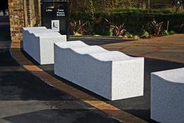 The granite Serpentine bench offers the ultimate material for architectural street furniture. The gracefully undulating form provides comfortable seating and naturally deters skaters. This bench is designed to last more than a lifetime. It is worked from a solid block of granite and comes with a bush hammered finish. The heavy granite construction of this street bench makes it an ideal choice as an attractive vehicle deterrent. The granite Serpentine bench can be placed individually or run end to end for a longer line of seating. There is a matching granite Serpentine stool available for cluster seating. There are also a number of complementary products available in the Serpentine range including the Serpentine bench and the Serpentine table.