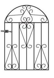 Winchester Arched Metal Garden Gate image