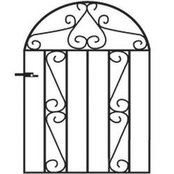 Clifton Arched Metal Garden Gate image