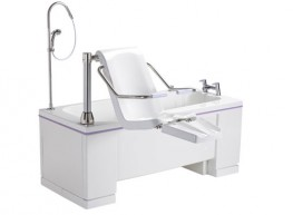 With advanced energy-saving technology, the Ezion combines the versatility of a hi-lo bath and powered seat traverse with a unique leg-lift system to offer the very highest level of care. Designed for high-traffic wet environments, this exceptionally capable a...