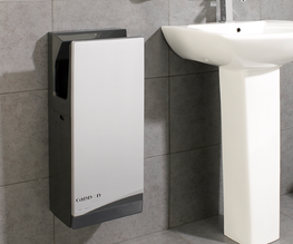 Upper and lower sensors instantly detect movement for automatic operation making our blade hand dryer ideal for all washrooms including accessible. The new wave pattern airjets and triangular silencer ensure the quietest operation with CE approval and the Q...