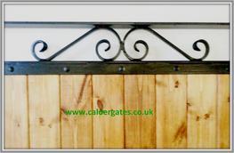 Sherwood wood infill / metal side gate by Calder Gates