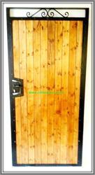Sherwood knotwood aluminium infill / metal side gate[1] image
