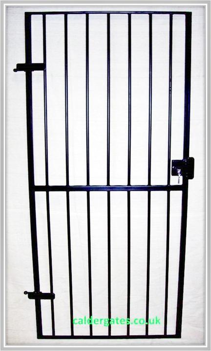 Metal Security Gate With Keyed Lock By Calder Gates