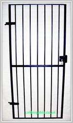 Metal Security Gate With Keyed Lock image