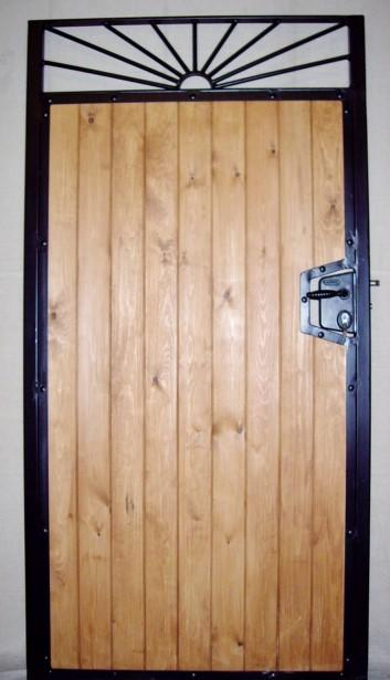 Sunrise Wood Infill Steel Frame Side Gate With Lock By Calder Gates
