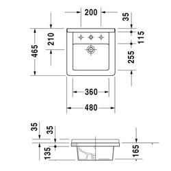 Duravit Starck 3 Inset Vanity Basin - C.P. Hart