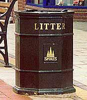 Octagonal cast iron bins - C I S Street Furniture