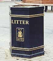 Hexagonal cast iron bins image
