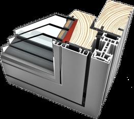 HF 110Timber/Aluminium Windows image