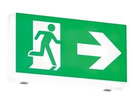 Zetalite 3 IP65 Bulkhead LED Emergency Light and Exit Sign image