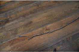 Engineered Antique Distressed Oak Hard Wax Brushed Oiled image