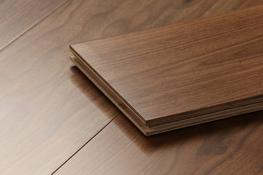 Prime AB American Black Engineered Lacquered Walnut Wood Flooring image