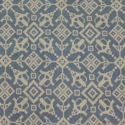 Balalaika Blue Linen mix fabric image