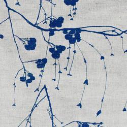 Berry Night Blue Linen mix, Oeko-Tex fabric image