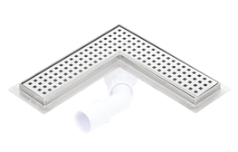 Corner stainless steel shower drains with 600mm flange image