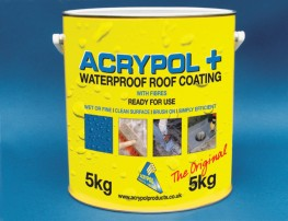 Acrypol + Black 5kg - Waterproof Roof Coating image