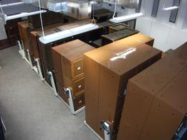 Existing Shelving/Cabinets Mounted onto Mobile Carriages image